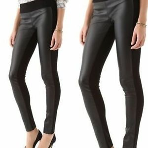 NWT Club Monaco Leather Front Tasha Leggings 00
